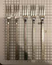 Viners STUDIO: Six Stainless Steel Dessert Forks (19.5cm) really nice condition