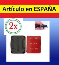 2x Pegatina + Soporte CURVO CASCO BICI MOTO Camara accesorios GOPRO SJ4000 SJCAM