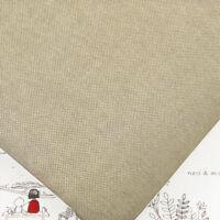 "Japanese ""Linen Look"" Woven 100% Cotton Fabric FQ. Medium Weight Solid Plain M21"