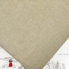 "Japanese ""linen Look"" Woven 100 Cotton Fabric Fq. Medium Weight Solid Plain M21"