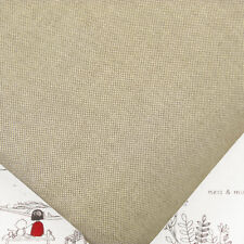 Japanese Linen Look Woven 100% Cotton Fabric by FQ Medium Weight Solid Plain M21