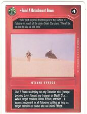 Star Wars CCG Premiere White Border Send a Detachment Down