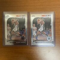 (Lot of 2) 2019-20 NBA Hoops Premium Stock Keldon Johnson Base RC