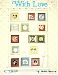 With Love - Serendipity Designs - Mini Counted Cross Stitch Patterns 1985