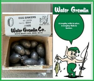 WATER GREMLIN EGG SINKERS BULK 4 OZ SIZE #EG-2 (24 PIECES) FREE USA SHIP