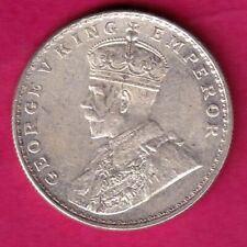 BRITISH INDIA BOMBAY MINT 1918 GEORGE V ONE RUPEE RARE SILVER COIN #FJ5