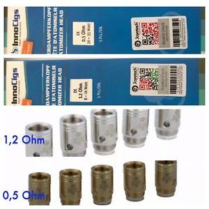 5x InnoCigs Joyetech EX Heads Coils Verdampferköpfe 0,5 gold 1,2 Ohm silber D22