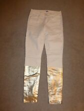 NEW Paige Verdugo Ultra Skinny Jeans Soft Stretchy White & Gold Solstice Size 26