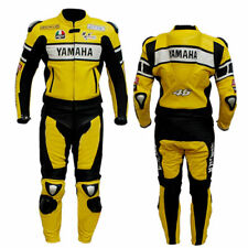 YAMAHA Yellow Motorcycle Riding Leather Suit-Motorbike Racing MotoGp-ALL Sizes
