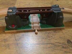 Wooden Train Collapsing Bridge