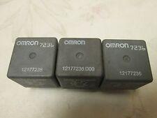 LOT OF 3 OMRON 7236 GM FAN RELAY 12177236