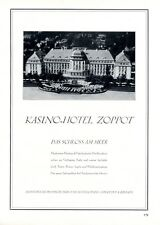 Kasino Hotel Zoppot XL Reklame 1929 Sopot Werbung Direktor P. Jeromin +