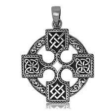 925 Solid Sterling Silver Celtic Quaternary Cross new design pendant