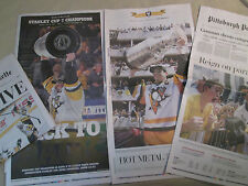 Set Penguins 2017 STANLEY CUP and PARADE PG Newspapers - Shipped flat in box