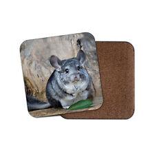 Cute Gray Chinchilla Coaster - Adorable Pets Animals Gerbil Hamster Gift #12782