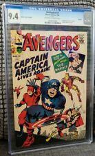 Avengers #4 CGC 9.4 1966 Golden Record Varient 1st Captain America GRR