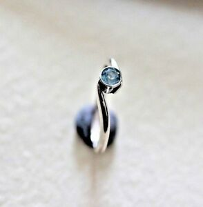Second hand wrapped design hall marked sterling silver  ring Topaz stone M,