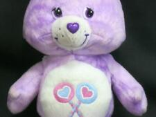 SHARE CARE BEAR PLUSH TIE DYE 2003 SERIES 1 SPECIAL EDITION PURPLE PLUSH TOY