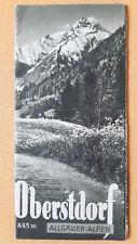 altes Reise Prospekt Oberstdorf Allgäuer Alpen, 1938