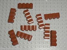 10 x LEGO RedBrown brick log ref 30137 Set 10210 4754 4737 7019 10236 6243 10193
