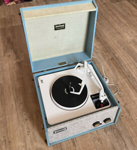 Dansette Tempo Record Player Garrard Turntable Working require Little Attention