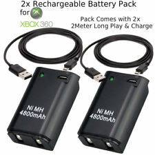 2X 4800mAh Battery Pack + 2M 6Ft Long Charger Cable Xbox 360 Wireless Controller