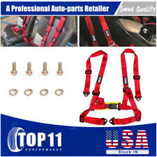 Us 2 Racing 4 Point Universal Vehicle Auto Car Safety Seat Belt Buckle Harness
