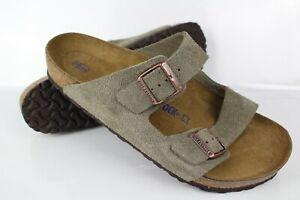 Birkenstock Men's Arizona Soft Footbed Suede Leather Size 46 / 13 Regular Taupe
