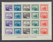 España 1938 Hoja Ejercito y la Marina  Ed.849 Nuevo sin charnela MNH Lujo..