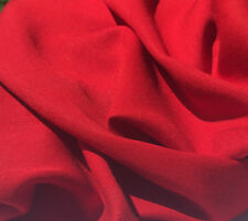 "60"" Firetruck Red Tencel Lyocell Rayon Medium Gabardine Twill Woven Fabric BTY"