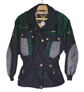 Vintage DESCENTE Purple & Green 2 Piece Set Ski Coat Jacket Pants Women's Sz. 8