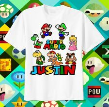 Super Mario Brothers Custom T-shirt Personalize tshirt Birthday gift, Tee, Bros