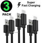 3 Pack USB-C to USB-A Cable Fast Charge Type C Charging Cord Rapid Sync Charger