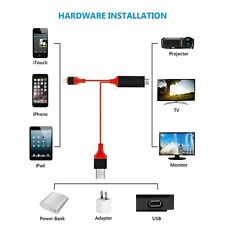 Câble HDMI pour iPhone 6 6S 7 8 Plus X - 1080P - longueur 2 metres tele apple