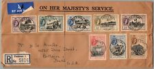 GP GOLDPATH: SIERRA LEONE COVER 1956 REGISTERED LETTER AIR MAIL _CV522_P10