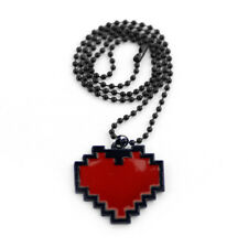 Red Heart Pixel Necklace Undertale Cosplay Costume Game Jewelry Frisk Chara Gift