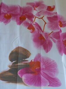 Pink orchid shower curtain new free shipping