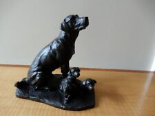 More details for heredities cold bronze, adorable labrador dog family figurine group by j spouse