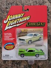 Johnny Lightning Classic Gold 1971 Plymouth Duster Real Riders Green RARE VHTF
