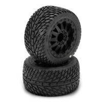 NEW Pro-Line Traxxas Stampede / Rustler Rear Road Rage Tire / F-11 Wheel Set ...
