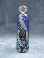 OKRA GLASS PERFUME BOTTLE FLARED CYLINDRICAL WITH OVAL CUT FACET RARE