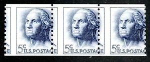"EFO 1229 MISPERFED COIL STRIP OF THREE --  ""USA POSTA"""