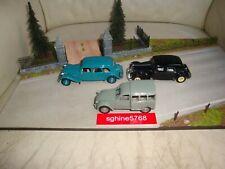 Norev 1/43 - Lot Citroën Traction 11B Limousine / 15 Six / 2CV Fourgonnette - DC