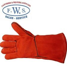 RED GAUNTLET GLOVE WELDING HIGH QUALITY WOODBURNER LOG FIRE CHIMINEA