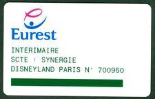PASSEPORT DISNEYLAND PARIS PASS CANTINE EUREST  N°104