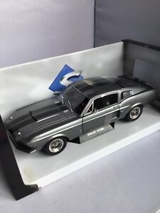 FORD MUSTANG SHELBY GT 500 GRISE 1969 SOLIDO 1/18
