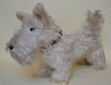 More details for vintage straw filled toy west highland white terrier jointed neck wire ears