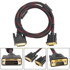 DVI-D 24+5 zu/auf VGA Digital Adapter Kabel 1.4m Monitor Buchse Stecker