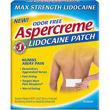 Aspercreme Max Strength Lidocaine Patch 4%, 5 Patches