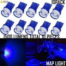 Alla Lighting PC579 Wedge Interior Map Light Bulb Lamp Ultra Deep Blue,Bright,10